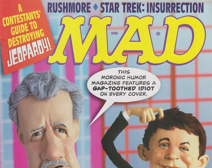 Mad Magazine #380 April 1999  Jeopardy!; Rushmore; Star Trek -Insurrection  (Magazine: Humor, Comic, Satire)