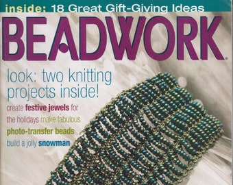 Beadwork December 2003/January 2004 18 Great Gift Giving  Ideas  (Magazines: Crafts, Beading, DIY)