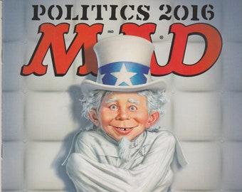 Mad Magazine #542 December 2016 - Politics 2016 (Magazine: Humor, Satire)