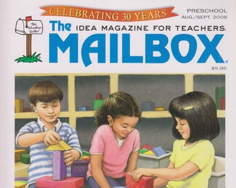 The Mailbox Preschool  August September 2008 Wild About Preschool, Glove Puppets, Living Things, Names  (Magazine:  Educational, Teaching)