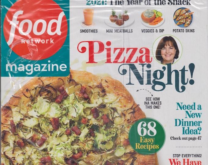 Food Network January February 2021 Pizza Night!  68 Easy Recipes  (Magazine: Cooking, Recipes)