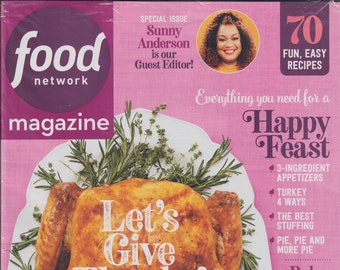 Food Network November 2020 Let's Give Thanks! 70 Fun, Easy Recipes (Magazine: Cooking, Recipes)