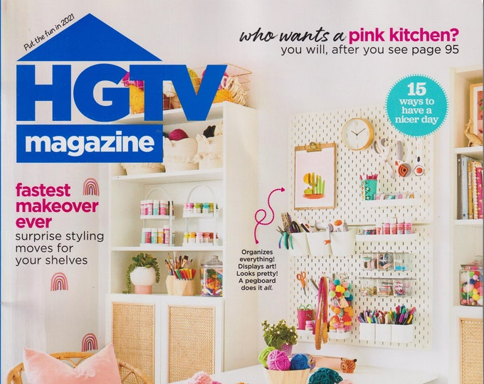 HGTV January February 2021 Make Cool Stuff - A Year of DIY Projects   (Magazine: Home Decor)