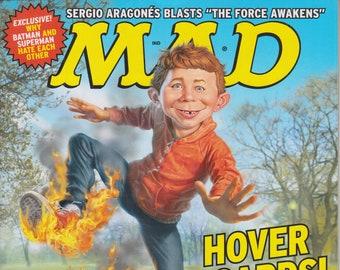 Mad Magazine #539 April 2016 Hover Boards! Our Explosive Expose! (Magazine: Humor, Comic, Satire)