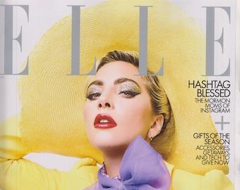 Elle December 2019 Lady Gaga  (Magazine: Women's, Fashion) 2019