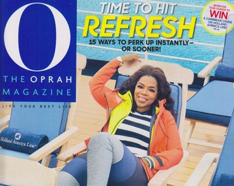O Magazine January 2018 Time to Hit Refresh (Magazine, Self-Help, Inspiration)
