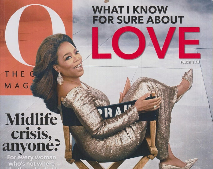 O Magazine  February 2020 What I Know For Sure About Love  (Magazine: Self-Help, Inspiration)