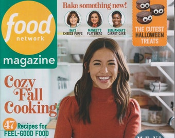 Food Network October 2021 Cozy Fall Cooking 47 Recipes for Feel-Good Food (Magazine: Cooking, Recipes)