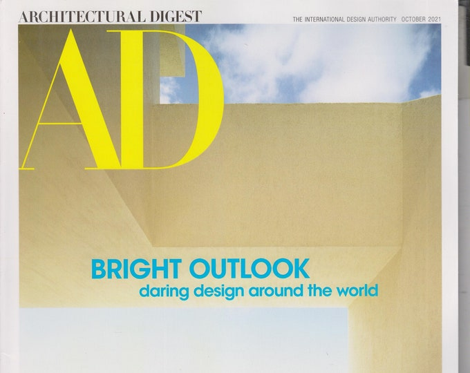 Architectural Digest October 2021 Bright Outlook Daring Design Around the World (Magazine: Home Decor)
