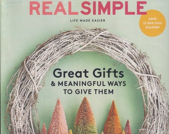 Real Simple December 2020 Great Gifts and Meaningful Ways to Give Them  (Magazine: General Interest)