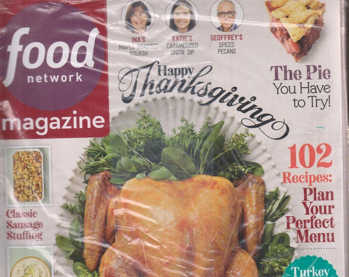 Food Network November 2019 Happy Thanksgiving - 102 Recipes Plan Your Perfect Menu  (Magazine: Cooking, Recipes)