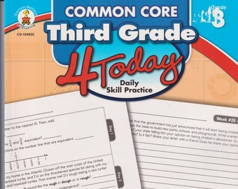 Common Core Third Grade 4 Today Daily Skill Practice  (Paperback: Children's, Activities, Educational, Teachers)  2014