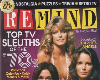 ReMind Top TV Sleuths of the ' 70s Charlie's Angels, Kojak, Columbo, Rockford Files   (Magazine: Nostalgia, Puzzles)
