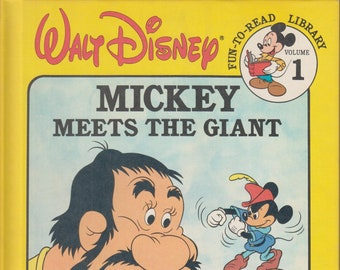 Mickey Meets the Giant (Walt Disney Fun-to-Read Library, Volume 1)   (Hardcover, Disney, Children's)  1986