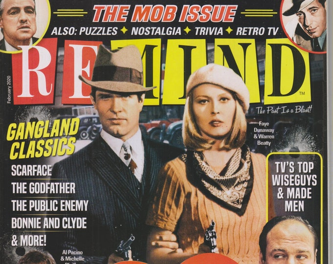 ReMIND February 2020 The Mob Issue - Hollywood's Love Affair With Gangsters  (Magazine: Nostalgia, Puzzles)