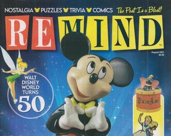 ReMIND August 2021 Collecting Disney, Walt Disney World Turns 50 (Magazine: Nostalgia, Puzzles, Celebrities)