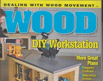 Wood September 2021 DIY Workstation Plus More Great Plans  (Magazine: Woodworking, Crafts, Hobby)