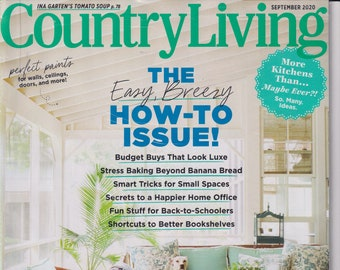 Country Living September 2020 The Easy, Breezy How-To  Issue! (Magazine, Home & Garden)