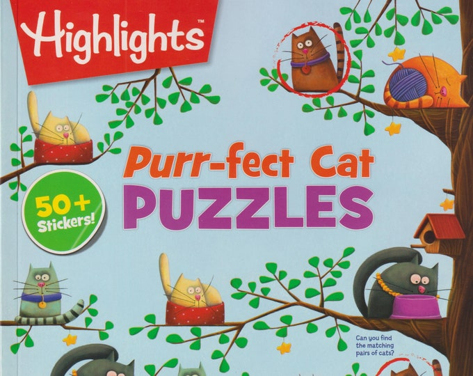 Highlights Purr-fect Cat Puzzles with 50+ Stickers  (Softcover: Children's, Puzzles) 2017