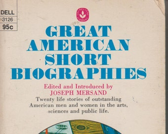 Great American Short Biographies (Dell 3126) (Paperback:Biography) 1974