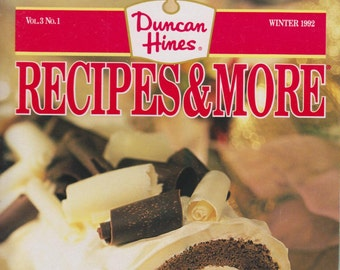 Duncan Hines Recipes & More Winter 1992 (Vintage Magazine: Cooking)