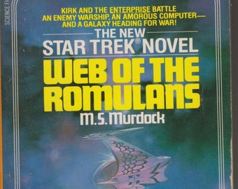 Star Trek Novel Web of the Romulans by M S Murdock (Paperback: TV Shows, SciFi, Fantasy) 1983