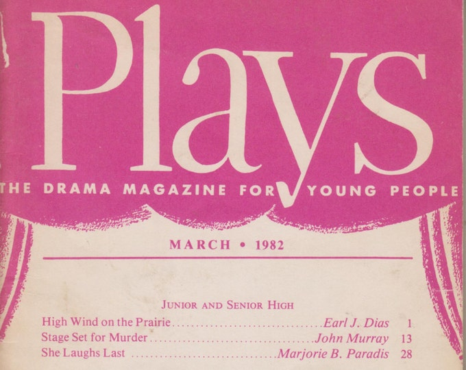 Plays, March 1982 (High Wind on the Prairie, Stage Set for Murder, She Laughs Last, The Rescuers, Car Crazy and Other Plays)