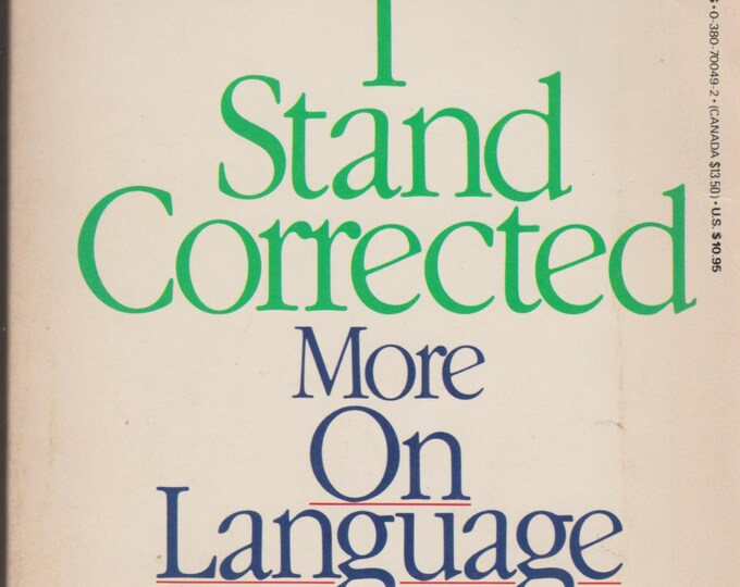 I Stand Corrected More On Language From William Safire (Paperback: Educational) 1986