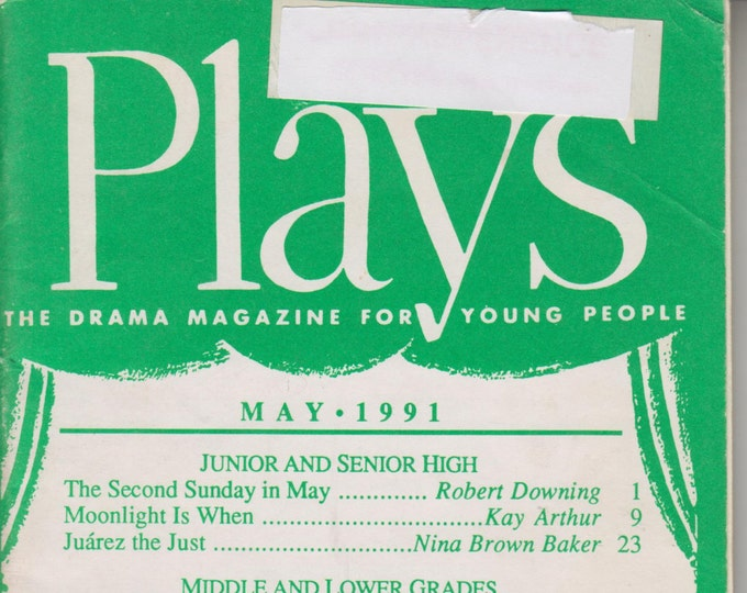 Plays May 1991 (Second Sunday in May, Moonlight is When, & Other Plays)