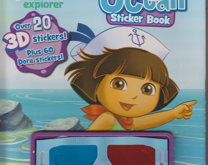 Dora The Explorer World of Adventure Ocean Sticker Book (7 3-D Sticker Scenes)