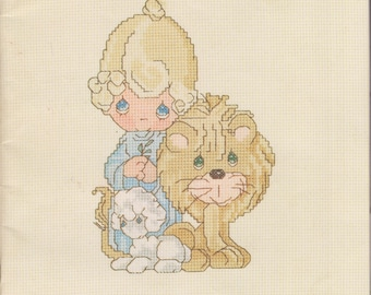 Precious Moments - Peace On Earth, Book PM-4 (Christmas Cross Stitch Patterns)  (Staplebound Book: Crafts) 1983