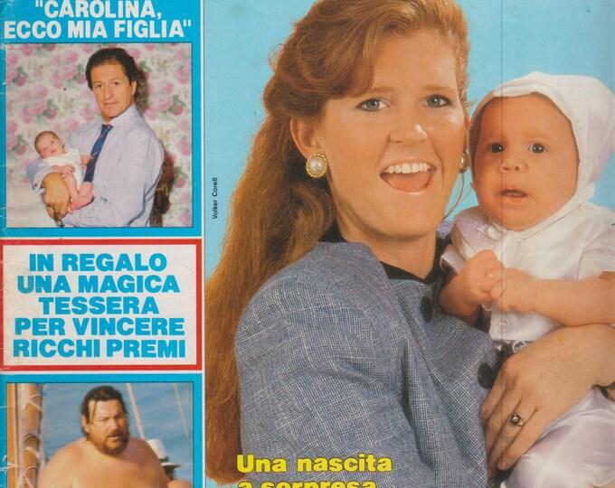 Gente 21 Luglio 1988 Settimanale di Politica, Attualita E Cultura  Philippe Junot,  Lady Sarah, Sofia Loren, Prince, and more