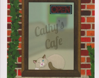 King Cat's Cafe by Thomas Callan (Personally Signed by Author)