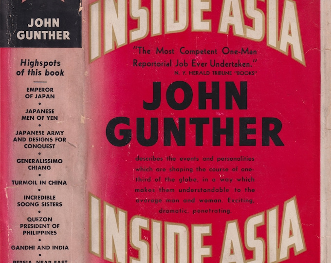 Inside Asia by John Gunther (Hardcover: Nonfiction, Asian History) 1939