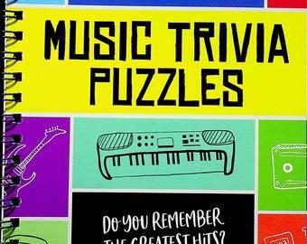 Brain Games Music Trivia Puzzles (Spiral Bound: Activity Book, Puzzles, Pencil Puzzles) 2019