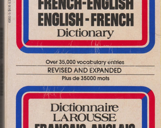LaRousse's French-English Dictionary (Paperback: Dictionary) 1971