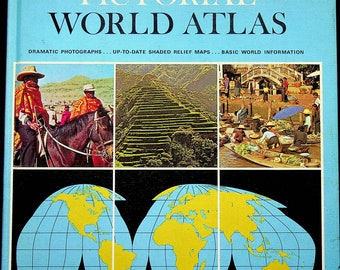 Hale-Cadmus Pictorial World Atlas  (Hardcover: Educational, Geography) 1968