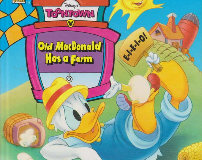 "Disney's Toontown Old MacDonald Has A Farm (Donald Duck)   (Hardcover, Disney, Children's)  1995 ""A"" Edition"