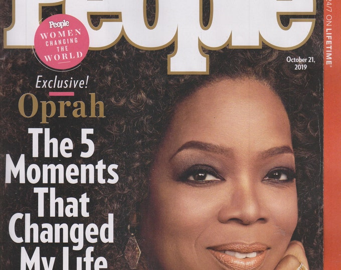People October 21, 2019 Oprah The 5 Moments That Changed My Life - Women Changing the World (Magazines: Celebrities)