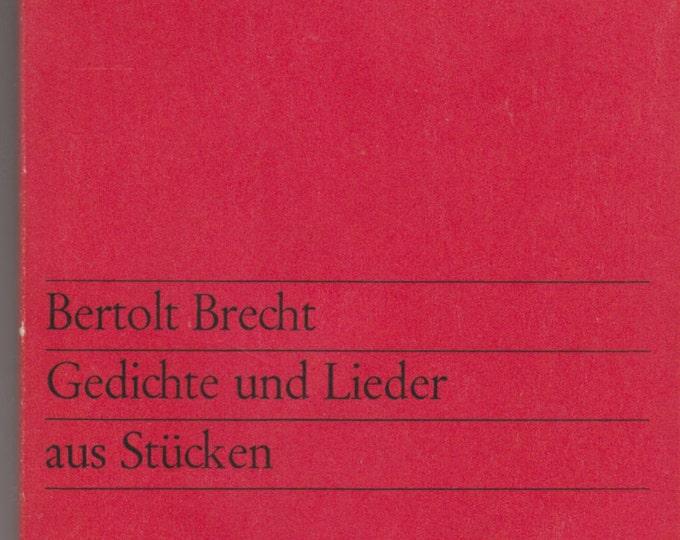 Gedichte und Lieder aus Stücken (Poems and Songs From Pieces) by Bertolt Brecht 1963