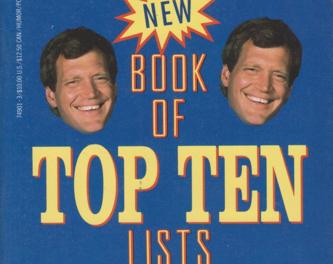 "An Altogether New Book of Top Ten Lists From ""Late Night With David Letterman"" (Softcover: TV Shows, Entertainment, Humor)  1991"