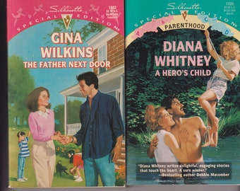 The Father Next Door & A Hero's Child (2 book set) (Paperback: Silhouette Romance, Parenthood) 1997