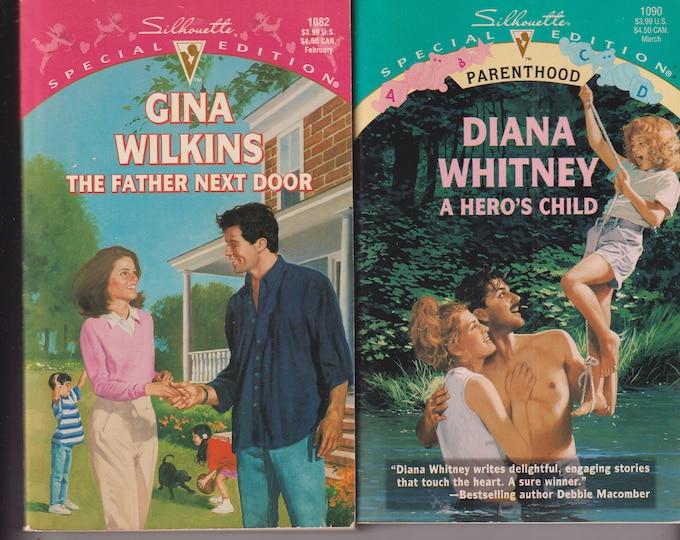 The Father Next Door & A Hero's Child (2 book set) (Paperback: Silhouette Romance, Parenthood) 1997