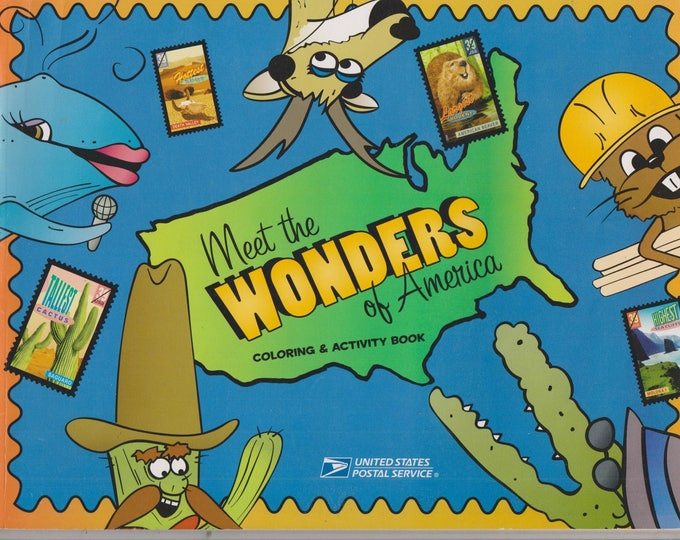 US Postal Service Meet the Wonders of America Coloring & Activity Book (Children's, Educational) 2006
