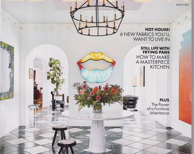 Elle Decor March 2021 The Art Issue Creatives Collectors & Connoisseurs At Home (Magazine: Home Decor)