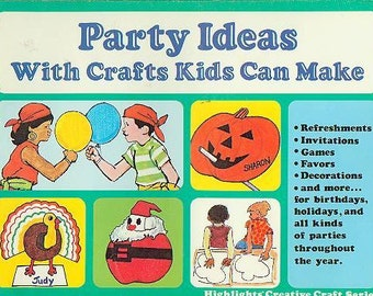 Party Ideas With Crafts Kids Can Make (Staplebound: Crafts, Kids Crafts, Teachers, Recycling) 1980s