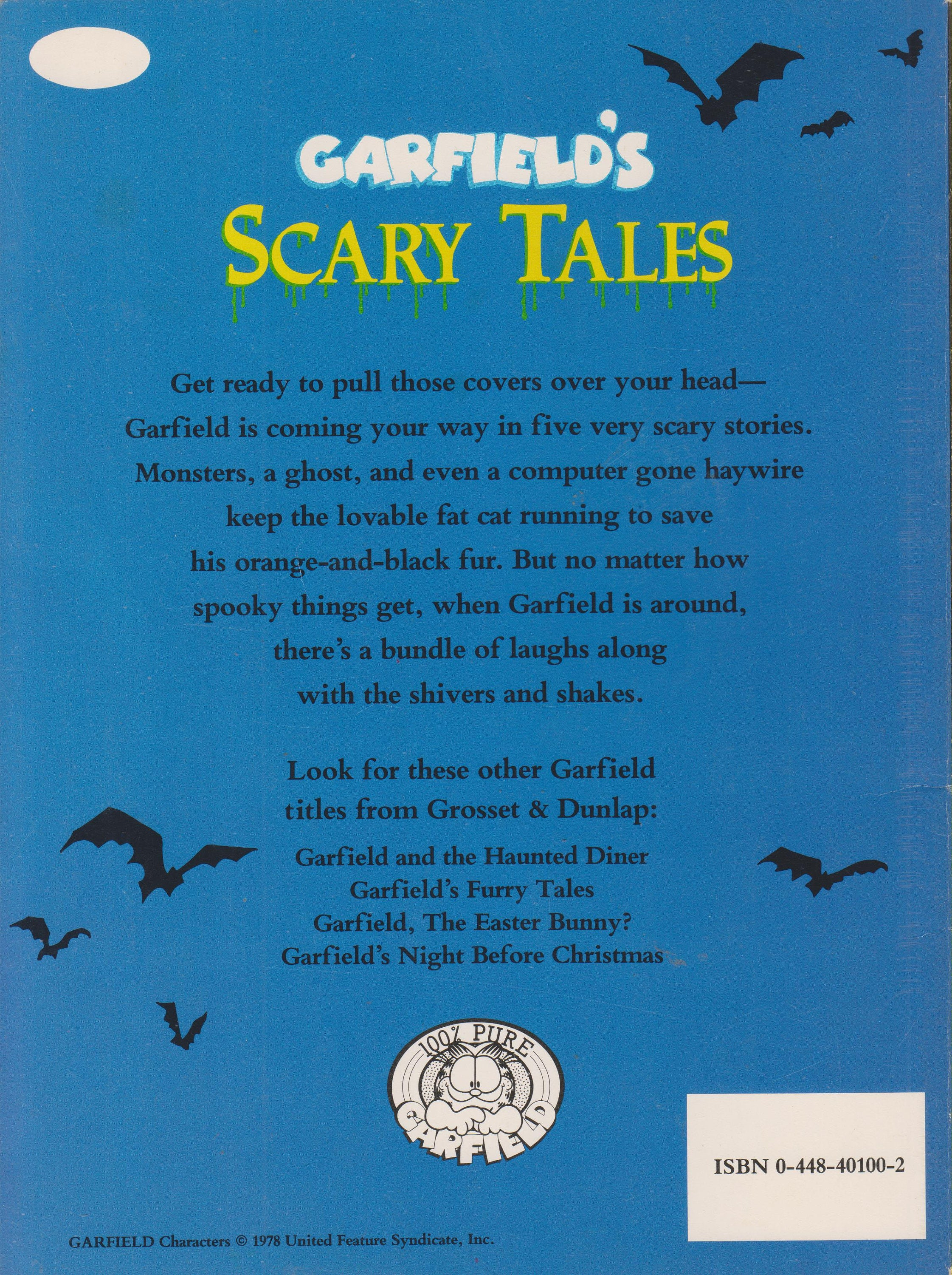 Garfield S Scary Tales Softcover Children S Picture Book 1990