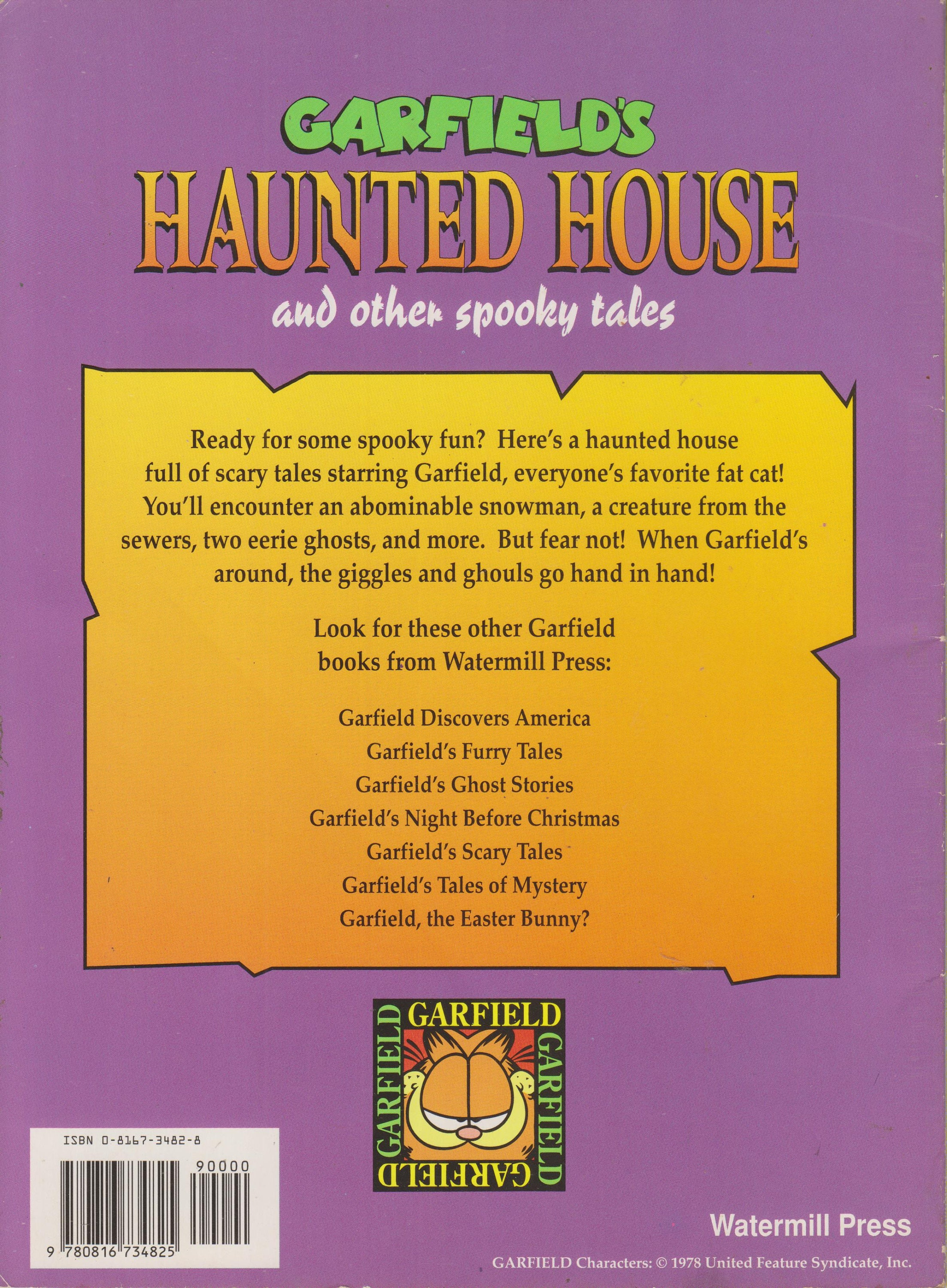 Garfield S Haunted House And Other Spooky Tales Softcover Children S Picture Book 1994