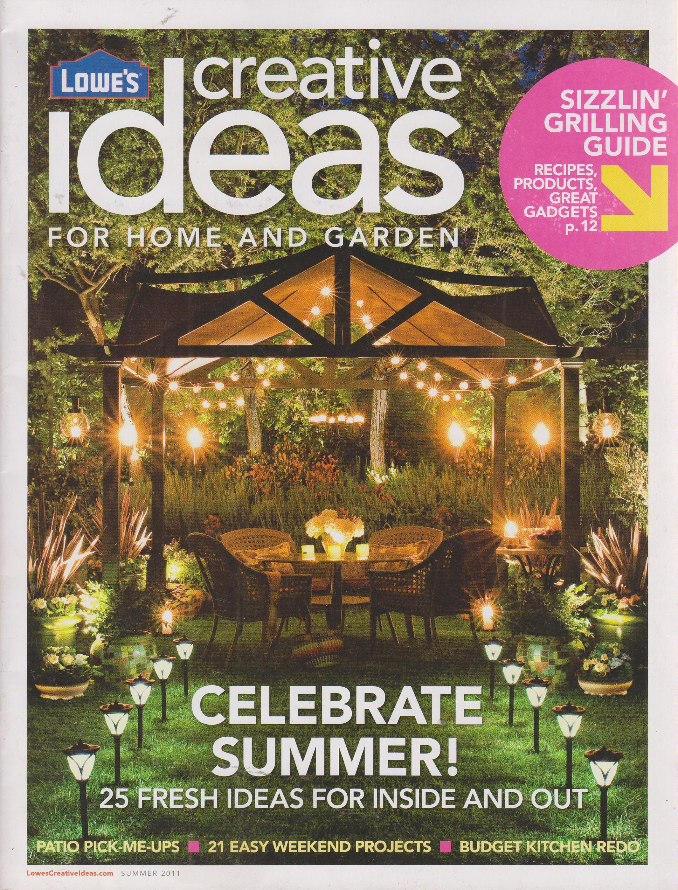 Lowe\'s Creative Ideas for Home and Garden Summer Issues (6 Magazines ...