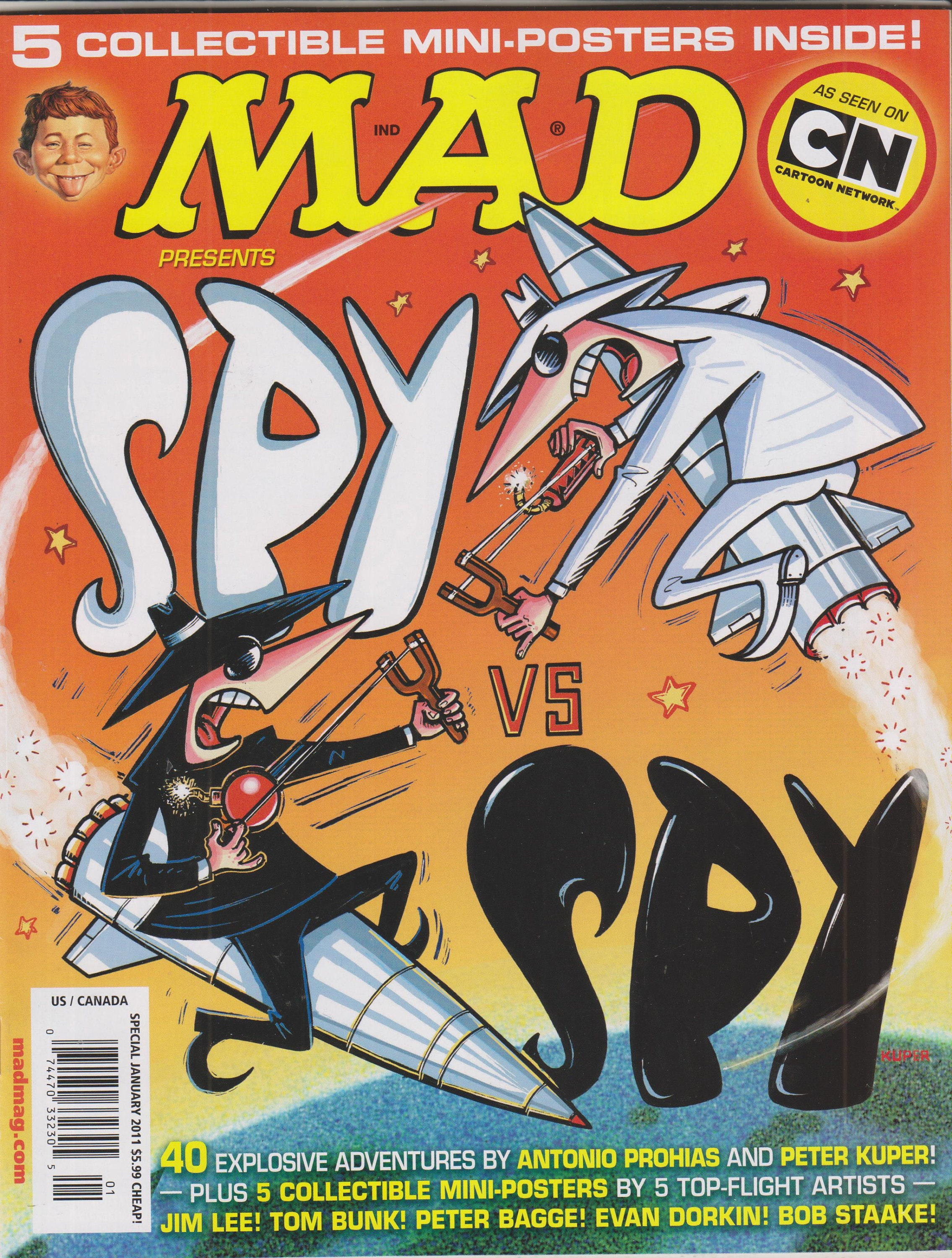 Mad Magazine Spy vs Spy Special Edition January 2011 includes posters New